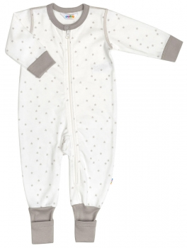 JOHA - Overall Organic Cotton MINI STAR in weiss-beige