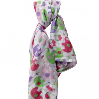 PICCALILLY - Pucktuch Swaddle PINK ELEPHANT 120x120 cm