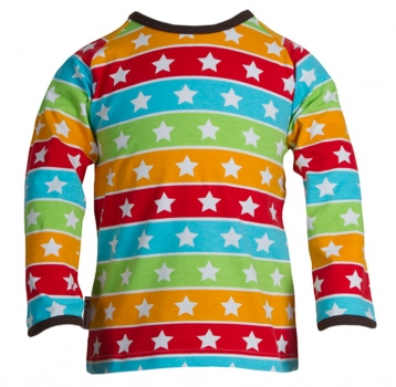JNY Colourful Kids - Shirt Langarm STRIPED STARS