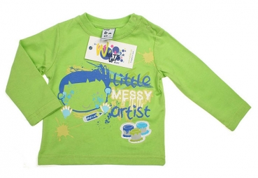 WSP Kids - Shirt Langarm MY LITTLE ARTIST in grün