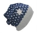 FARBGEWITTER - Beanie-Mütze ROBO HERO mit Sternen in blau